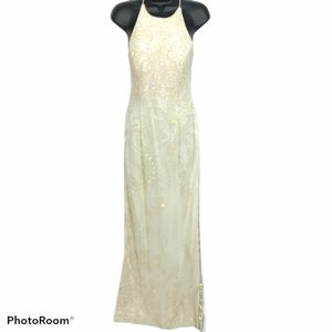 Vintage Beaded Cross Back Dress